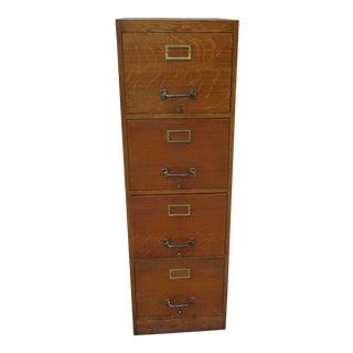 Antique Oak File Cabinet For Sale