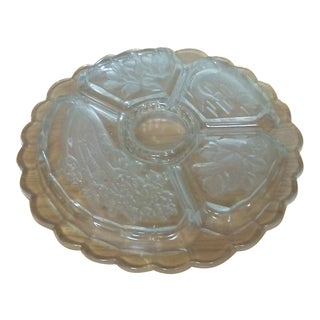 Mikasa Crystal Serving Platter For Sale