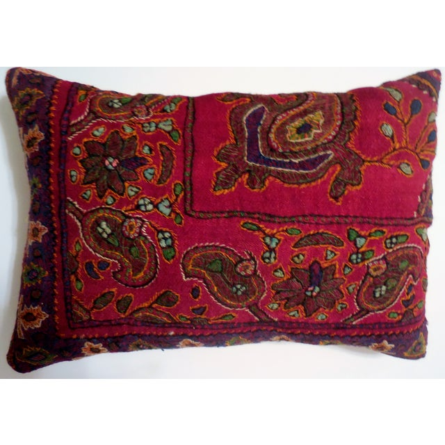 Hand Embroidery Antique Pillows - A Pair - Image 2 of 10