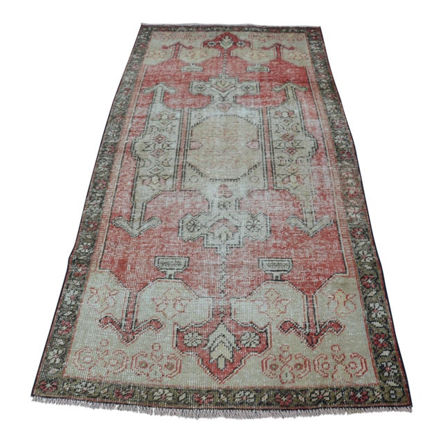 Bohemian Floor Wool Rug - 3′6″ × 7′4″ - Image 1 of 6