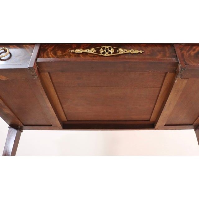 Circa 1900 French Empire Style Mahogany Dressing Table For Sale - Image 10 of 13
