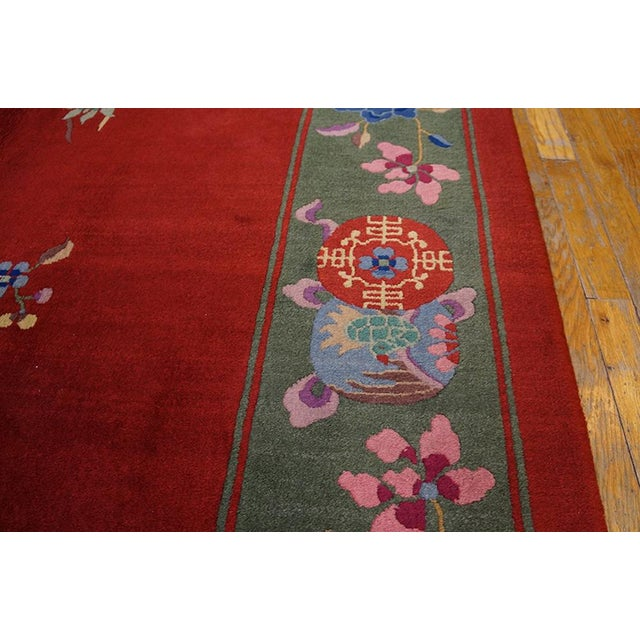 """1920s 1930s Chinese Art Deco Rug - 9'x11'9"""" For Sale - Image 5 of 7"""