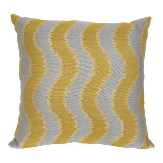 "Boho Chic ""Rumba"" Lemon Yellow Fabric Decorative Pillow - 18"" x 18"" For Sale"