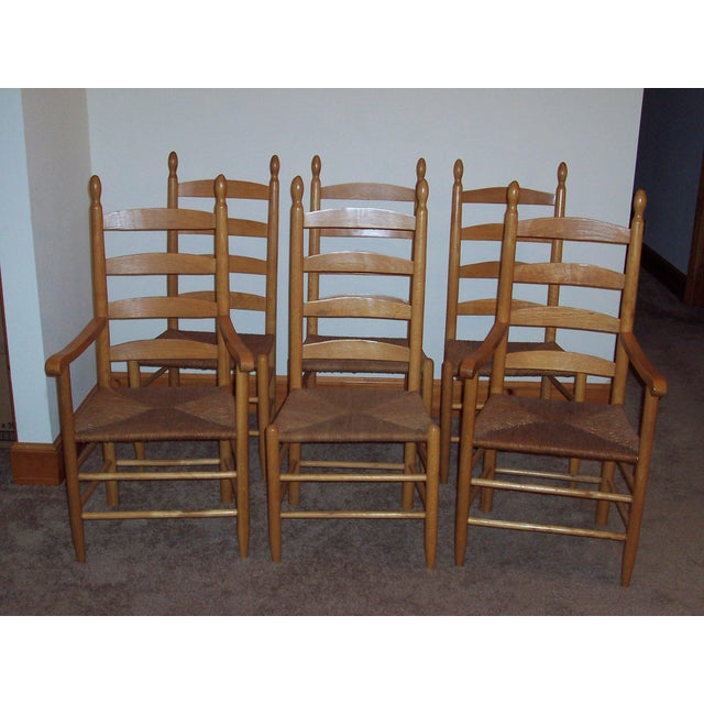 Set of 6 Ladder Back Chairs - Image 2 of 6
