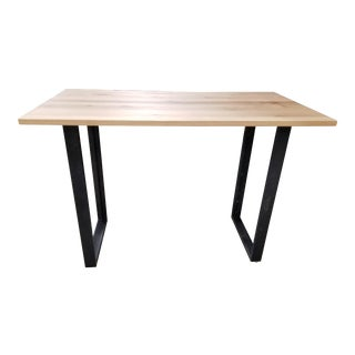 Industrial West Elm High Top Console Table For Sale