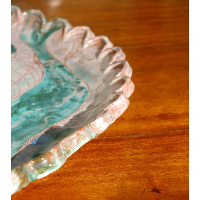 Ceramic Large Italian Platter with Fish For Sale - Image 7 of 8