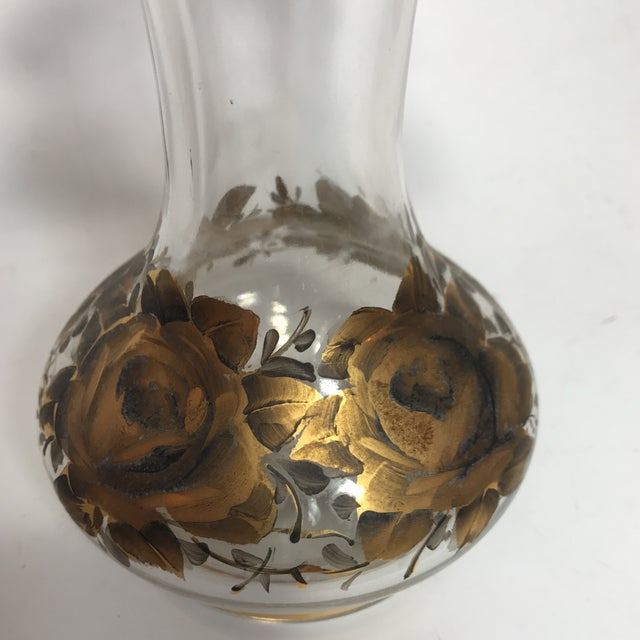 Hand Painted Crystal Jar & Vase For Sale - Image 4 of 7