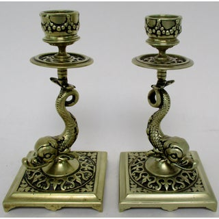 Brass Koi Candlesticks, a Pair Preview