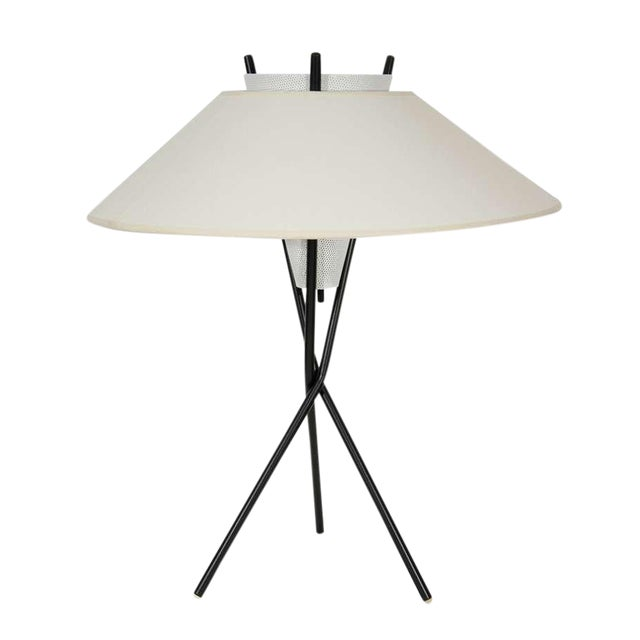 Gerald Thurston for Lightolier Tripod Table Lamps - Image 1 of 5