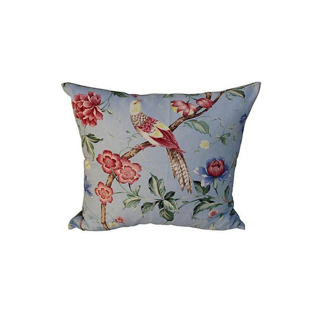 Art Deco Scalamandre Floral & Bird Chinoiserie Pillows - a Pair For Sale - Image 3 of 7