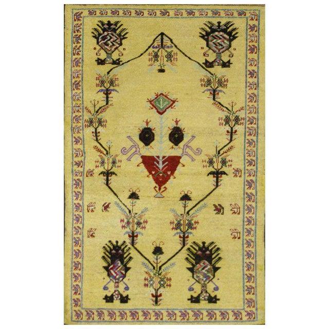 Vintage Turkish Oushak Rug with Modern Style, Yellow Oushak Rug For Sale - Image 10 of 10