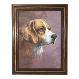 Image of Contemporary Dog Portrait Oil Painting For Sale