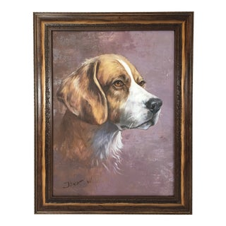Contemporary Dog Portrait Oil Painting For Sale