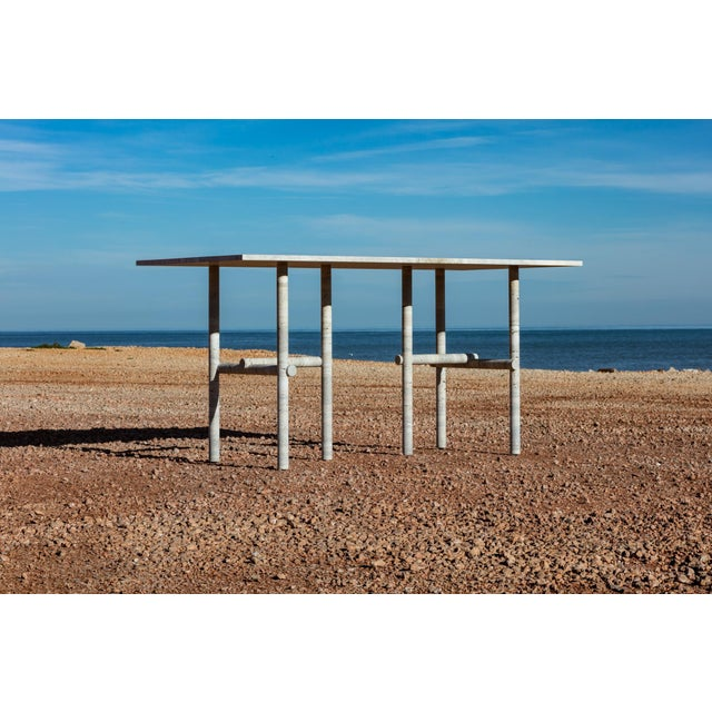 Original Ocean Travertine Desk by Clement Brazille For Sale - Image 6 of 12
