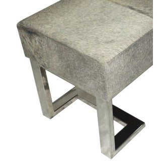 Gray Cowhide Chrome Bench Preview