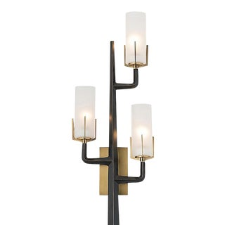 Arteriors Modern and Brass and Iron Finished Griffin Wall Sconce For Sale