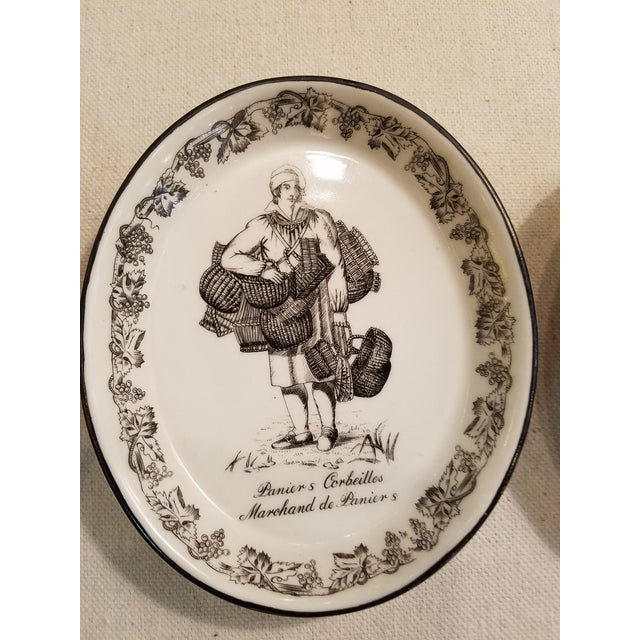 French Country Vintage Mottahedeh Black Transfer Wall Plates - Set of 3 For Sale - Image 3 of 6
