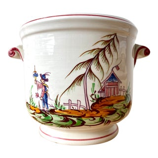 Tiffany & Co Hand Painted Chinoiserie Cachepot For Sale