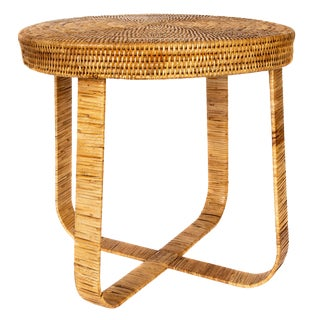 """Artifacts Rattan Side Table 20""""x20""""x18"""" For Sale"""