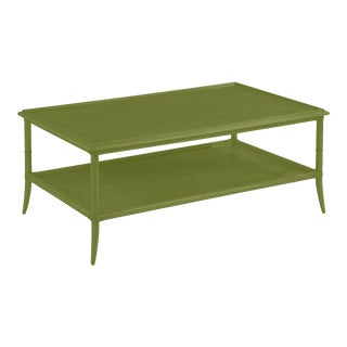 Paxton Rectangular Cocktail Table, Timson Green For Sale