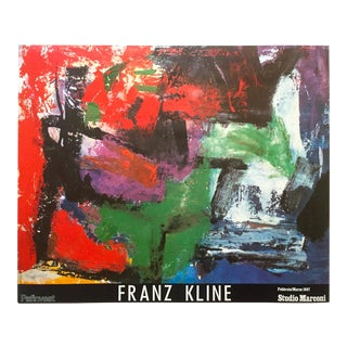 "Franz Kline Rare Vintage 1987 Abstract Expressionist Lithograph Print "" Pafinvest Studio Marconi "" Italian Exhibition Poster For Sale"