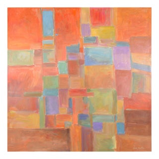 Urban Mosaic Signed Original Painting For Sale