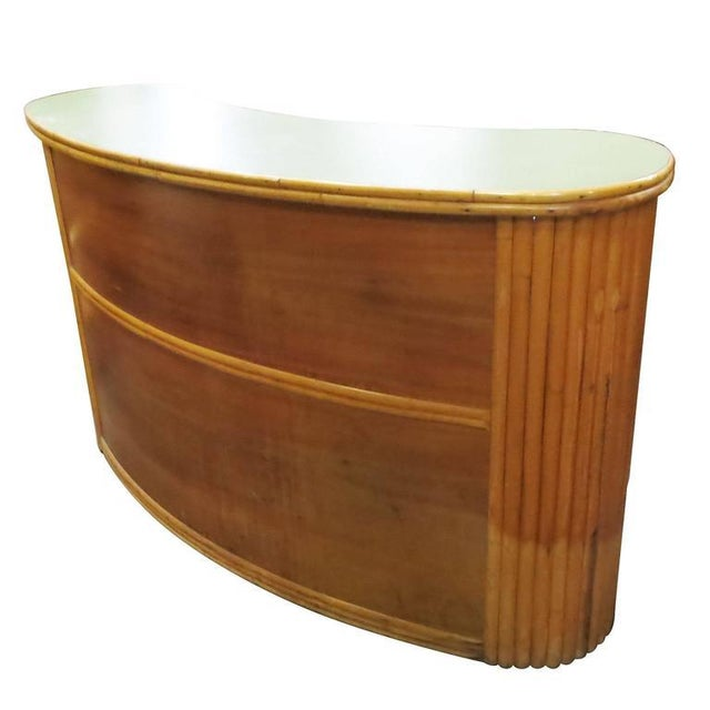 Formica Top & Rattan Bar - Image 4 of 8
