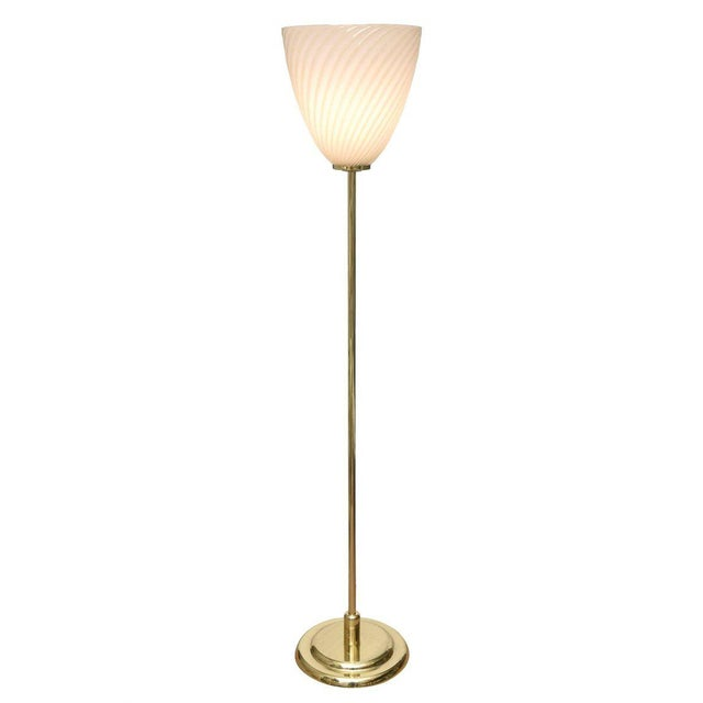 World-Class Midcentury Italian Murano Glass Floor Lamp with Polished ...