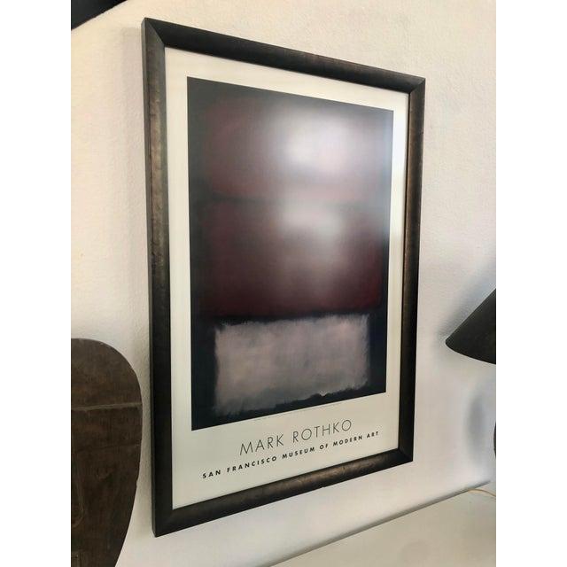 Modern 1960s Vintage Rothko Museum Framed Poster Print For Sale - Image 3 of 7