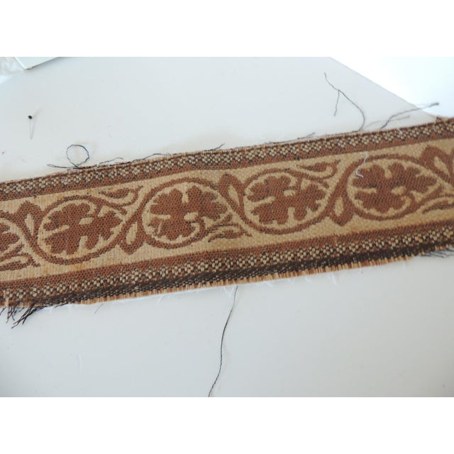 """1950s Set of """"4"""" Jute Woven Arts and Crafts Style Decorative Trims For Sale - Image 5 of 6"""