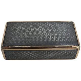 19th Century Continental Niello and Silver Gilt Snuff Box For Sale