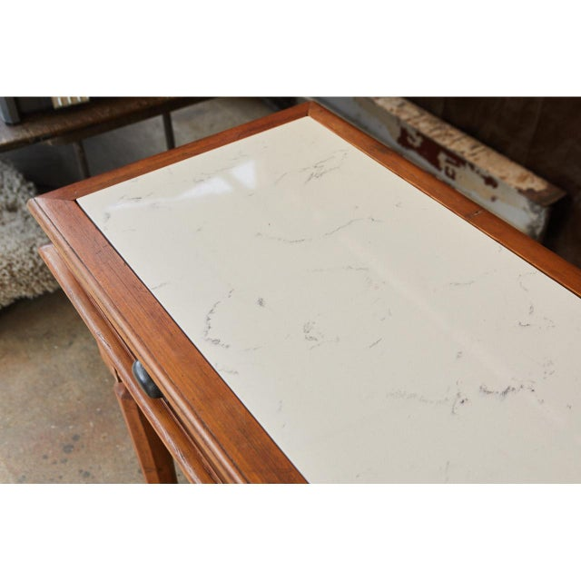 White 1920's Italian sideboard For Sale - Image 8 of 11