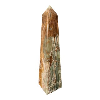 Contemporary Solid Onyx Obelisk For Sale