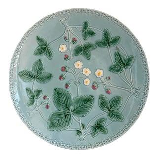 Aqua Majolica Platter, Germany For Sale