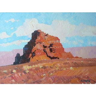 """The Tables of El Dorado"" Desert Landscape Oil Painting on Board by Alan H. Curtis For Sale"