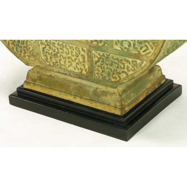 Pair Monumental Bronze Chinese Urn Table Lamps - Image 8 of 9
