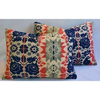 19th-C. New England Coverlet Feather/Down Pillows - a Pair Preview