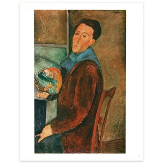1940s A. Modigliani Swiss Lithograph After Self-Portrait For Sale