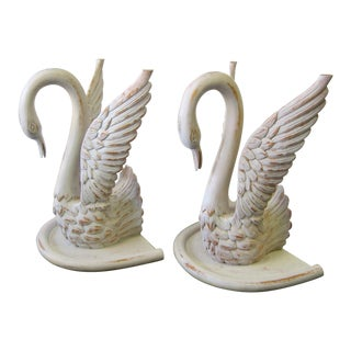 Hollywood Regency Swans Table Bases - a Pair For Sale