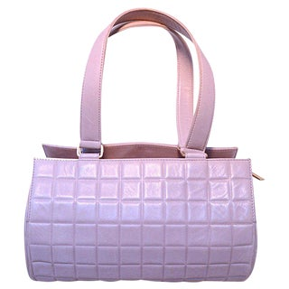Chanel Lilac Quilted Leather Shoulder Bag For Sale