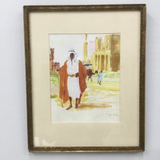 Early 20th Century Vintage Impressionism Oil Painting on Paper by F. Grimes For Sale - Image 10 of 10