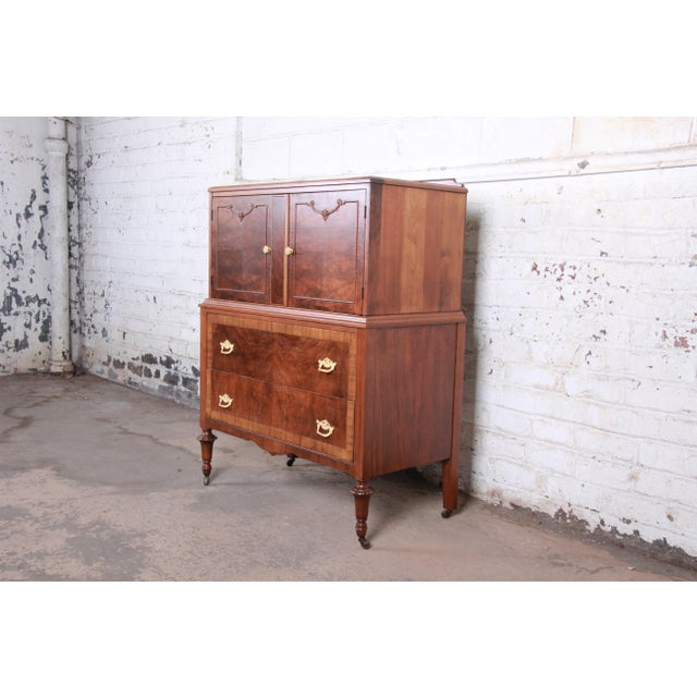 Early Herman Miller Burled Walnut Gentleman's Chest, Circa 1920s For Sale - Image 13 of 13