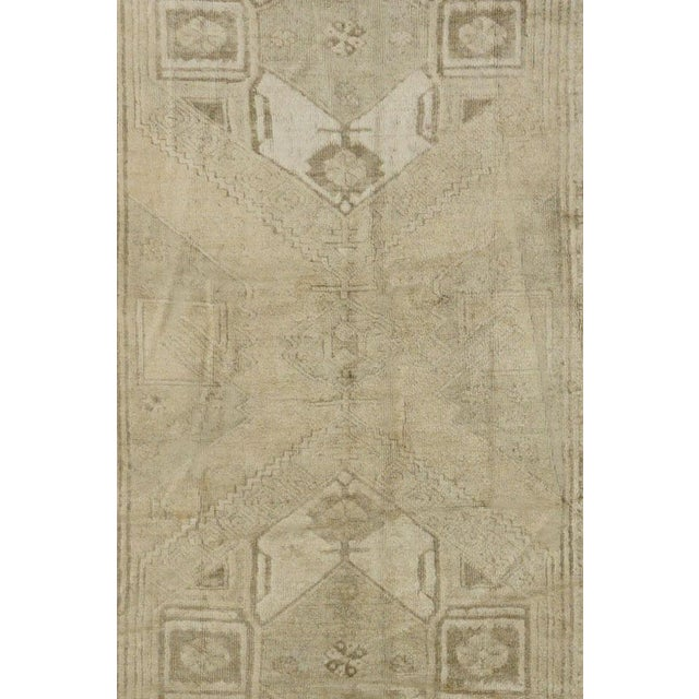 Vintage Turkish Oushak Rug - 4'1''x10'11'' - Image 2 of 4