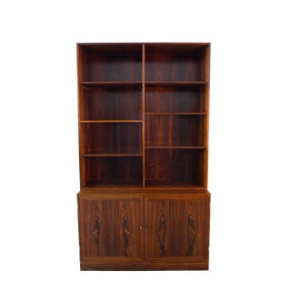 Kai Winding Mid-Century Danish Modern Rosewood Bookcase