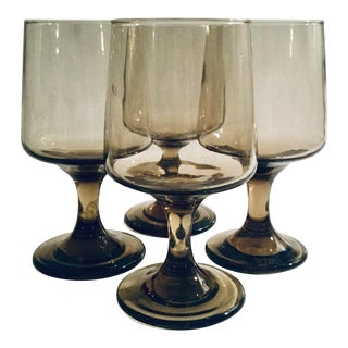 Libbey Tawny Accent Water Goblet - Set of 4 For Sale