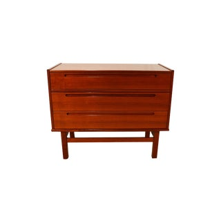 Hjn Mobler Danish Modern 1960 Jonsson Teak Dressing Table Vanity For Sale