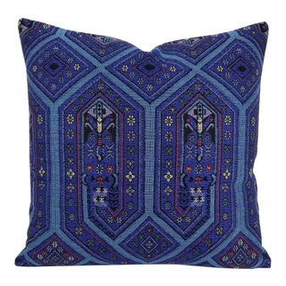 Beacon Hill Niu Fret Lapis Pillow Cover For Sale