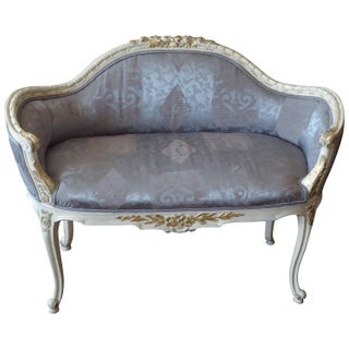 Antique French Small Settee Loveseat