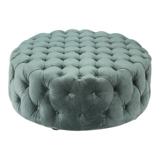 Manda Fabric Coffee Table, Mossgreen For Sale