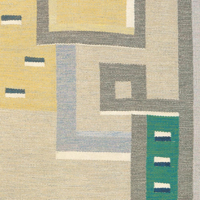 Sweden, circa 1960. Signed: AO (Agda Osterberg). Hand woven. FJ Hakimian Reference #02811